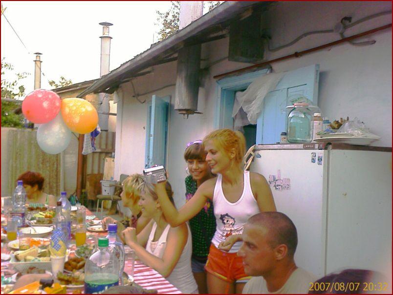 Семейство Говор застолье в деревне