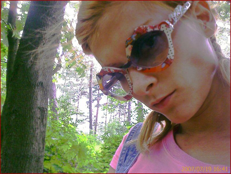 Юлия Говор в лесу Юрмалы